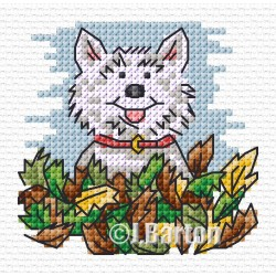 Autumn playtime (cross stitch chart download)