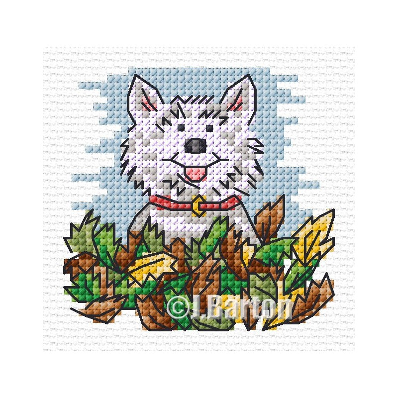 Autumn playtime cross stitch chart