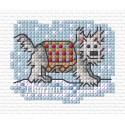 Walkies in the snow cross stitch chart