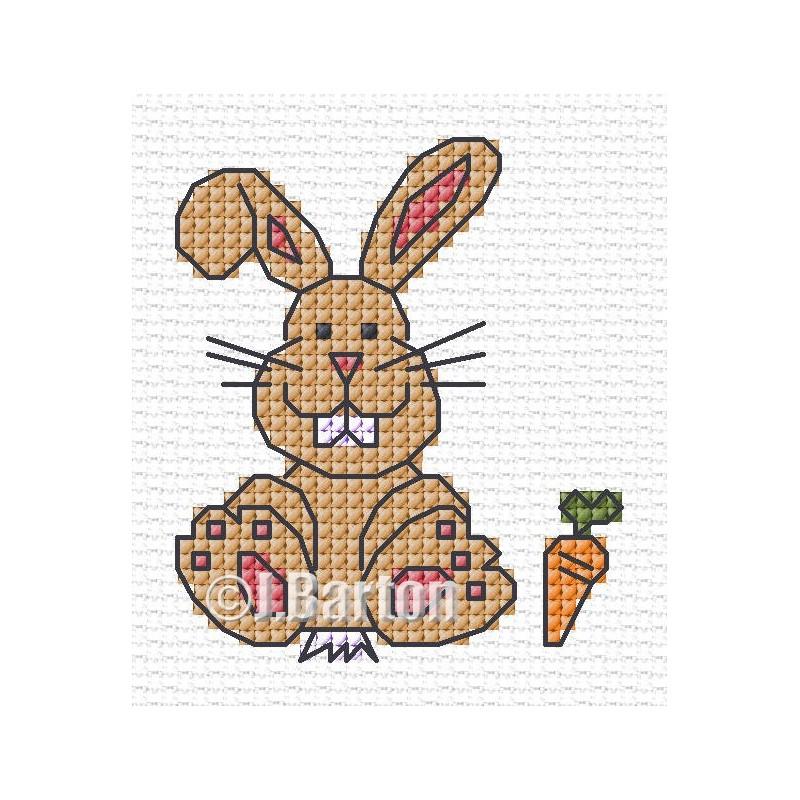Bunny cross stitch chart