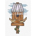 Bird table cross stitch chart