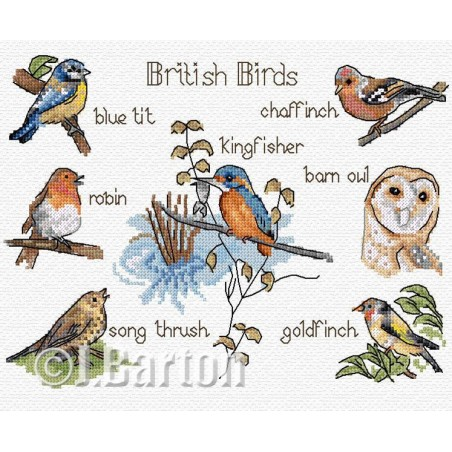 British birds (cross stitch chart download)