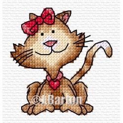 Pretty cat (cross stitch chart download)