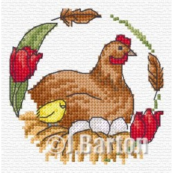 Chicken (cross stitch chart download)