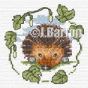 Hedgehog cross stitch chart