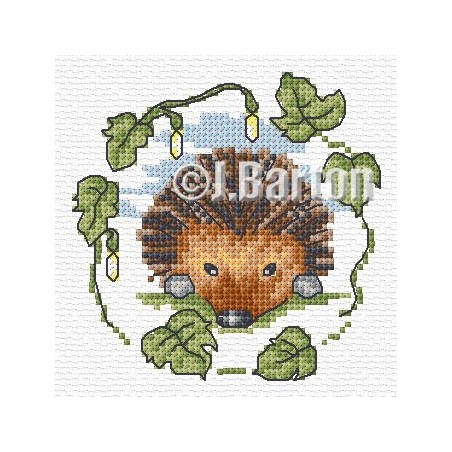 Hedgehog (cross stitch chart download)