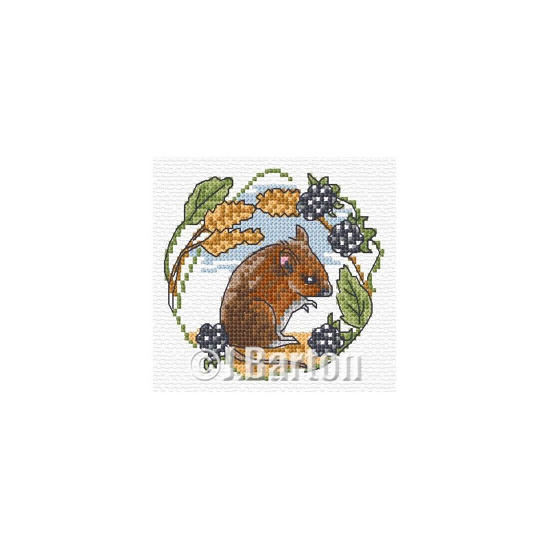 Field mouse cross stitch chart
