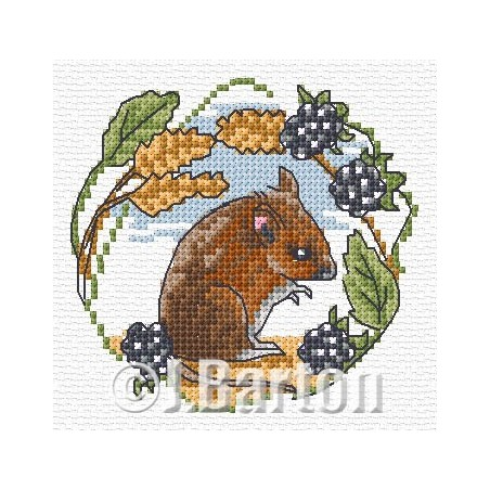 Field mouse (cross stitch chart download)