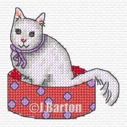Mischievous cat (cross stitch chart download)