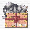 Cat nap cross stitch chart
