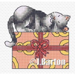 Cat nap (cross stitch chart download)