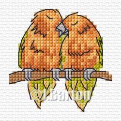 Love birds cross stitch chart