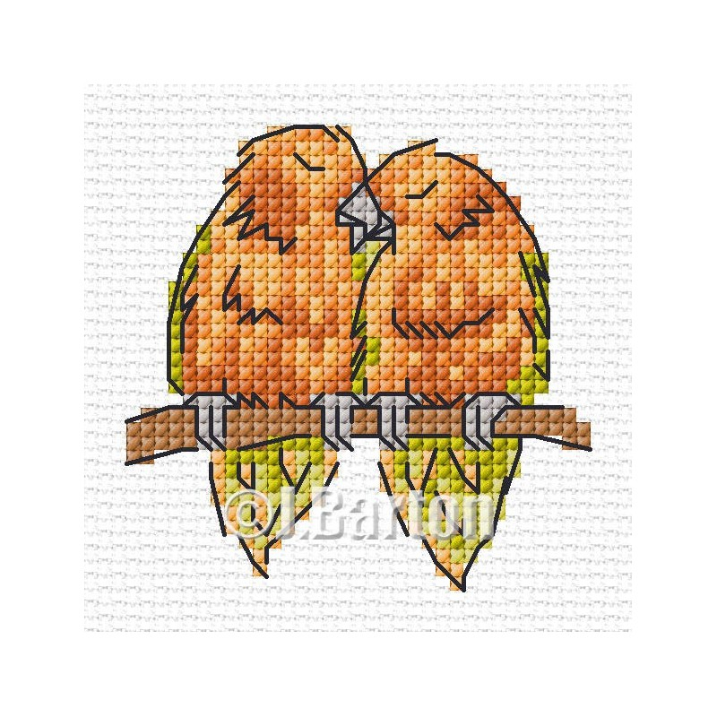 Love birds cross stitch chart