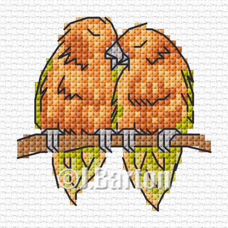Love birds (cross stitch chart download)