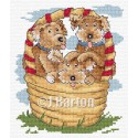 Puppies cross stitch chart