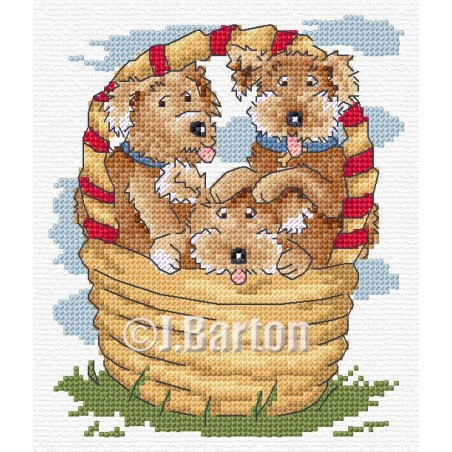 Puppies (cross stitch chart download)