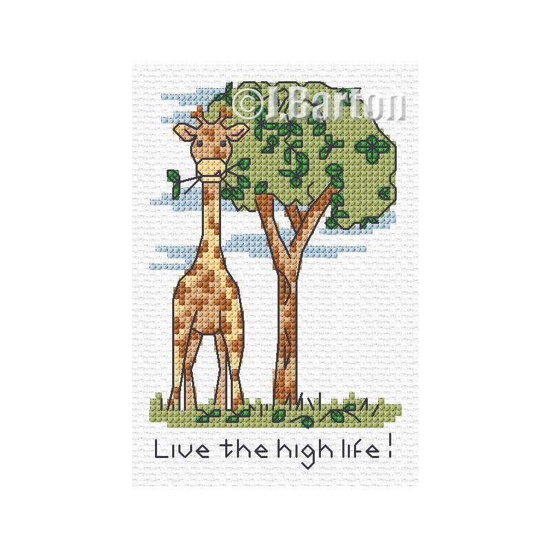 Live the high life! Cross stitch chart