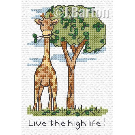 Live the high life! (cross stitch chart download)
