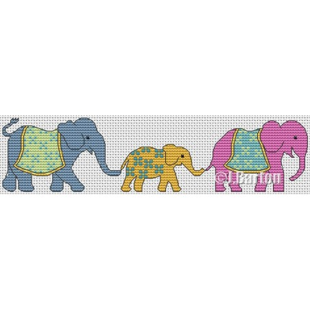 Elephant family (cross stitch chart download)