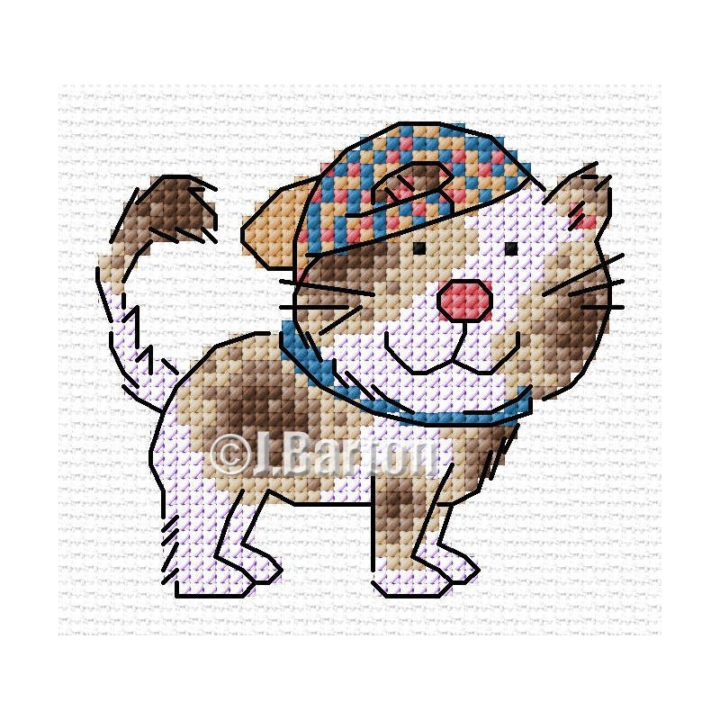 Cool dog cross stitch chart