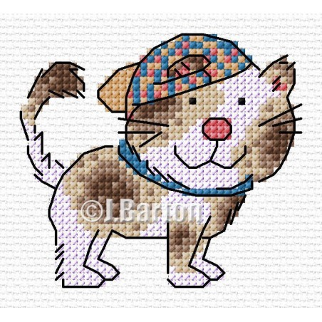 Cool dog (cross stitch chart download)