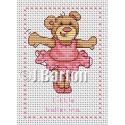 Little ballerina cross stitch chart