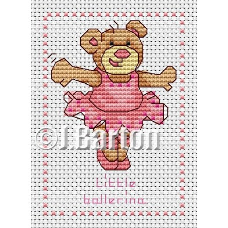 Little ballerina (cross stitch chart download)