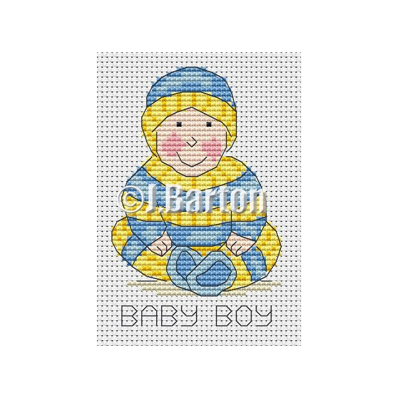 Baby boy cross stitch chart