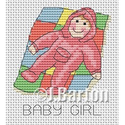 Baby girl cross stitch chart