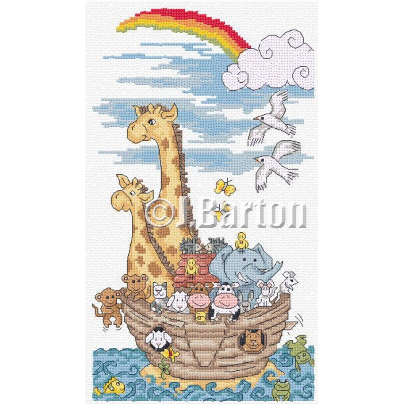Noah's ark cross stitch chart