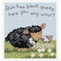 Baa baa black sheep cross stitch chart