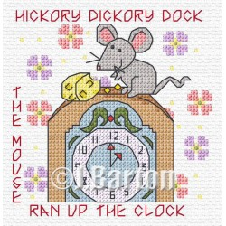 Hickory dickory dock (cross stitch chart download)
