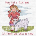 Mary had a little lamb cross stitch chart