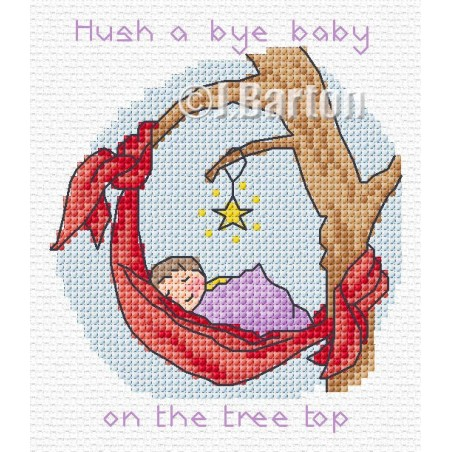 Hush a bye baby (cross stitch chart download)