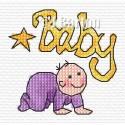Baby cross stitch chart