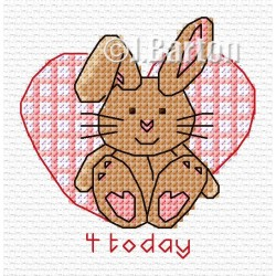 Girls rabbit (cross stitch chart download)
