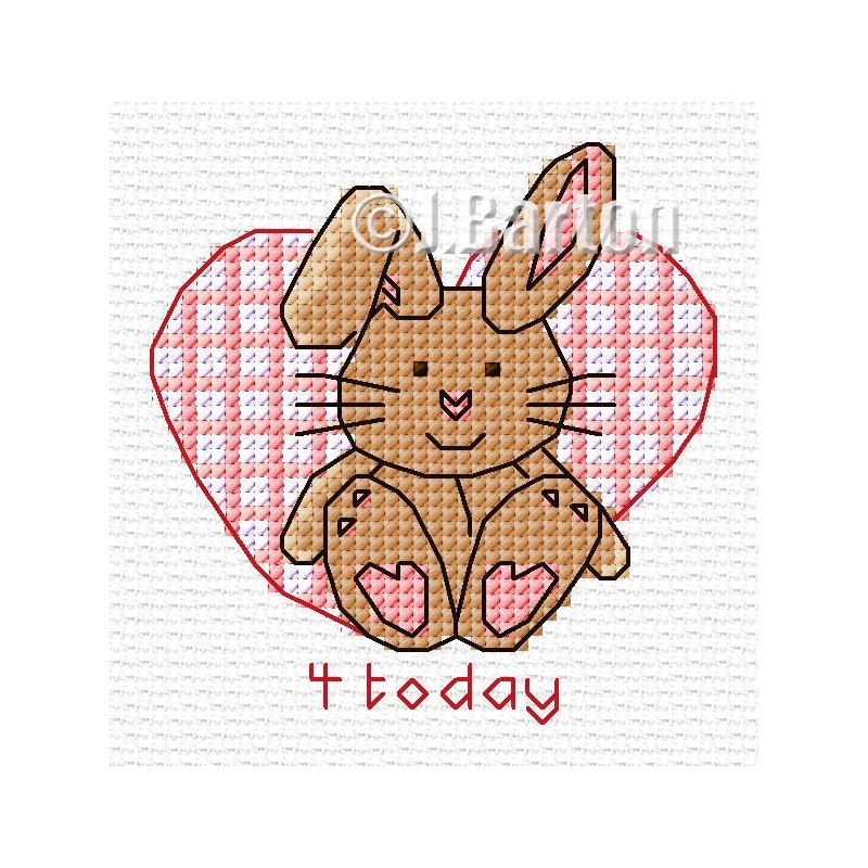 Girls rabbit cross stitch chart
