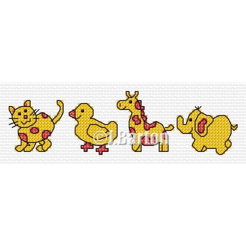 Baby toys cross stitch chart