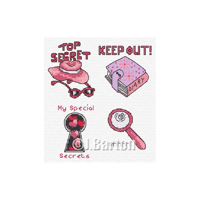 Top secret girl! Cross stitch chart