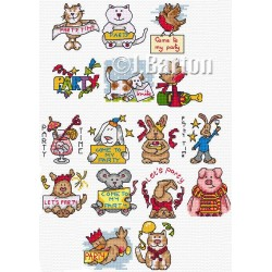 Party time (cross stitch chart download)