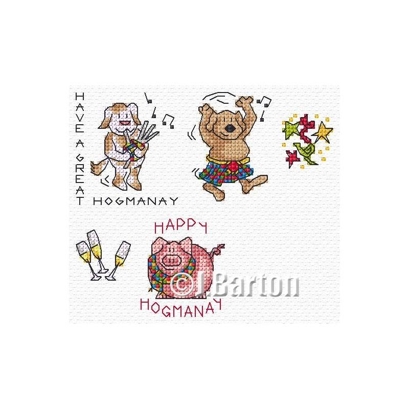 Hogmanay cross stitch chart