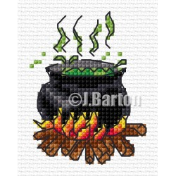 Cauldron cross stitch chart