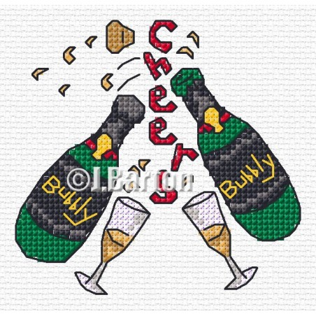 Lovely bubbly! (cross stich chart download)