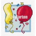 Balloons cross stitch chart