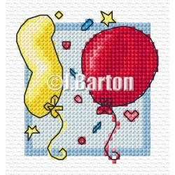 Balloons (cross stitch chart download)