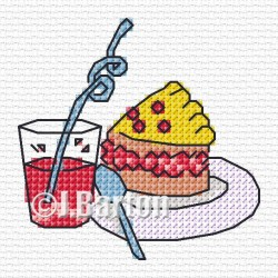 Party food (cross stitch chart download)