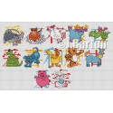 Chinese New Year cross stitch chart