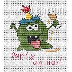 Party animal cross stitch chart