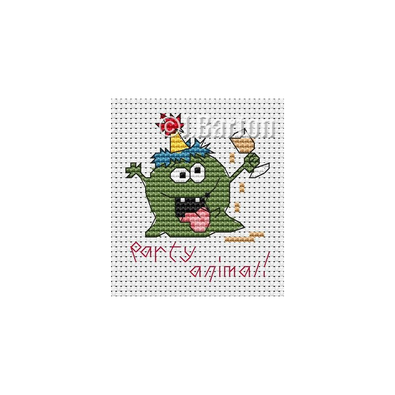 Party animal cross stitch chart