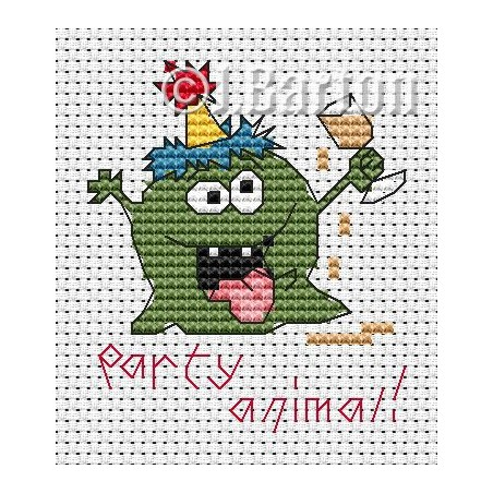Party animal (cross stitch chart download)